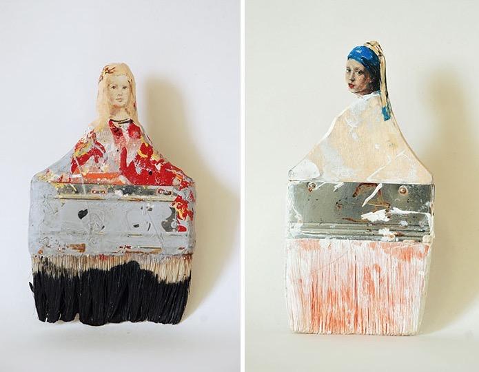 Rebecca Szeto Transforms Old Paintbrushes Into Delicate Ladies